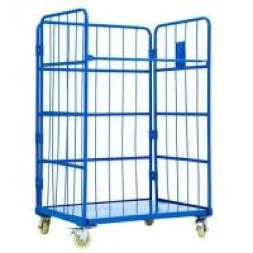 A Frame Secure Nestable Roll Containers For Logistics Transship 300-500KG