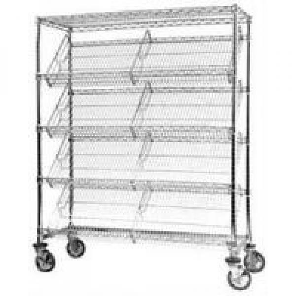 Highly Visible Slanted 27 Degree Angled Storage Shelves Display Solutions #1 image