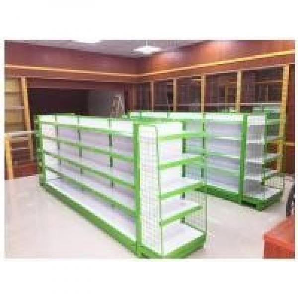 4 Layers In Green White Color C Store Display Rack / Wire Mesh Decking #2 image
