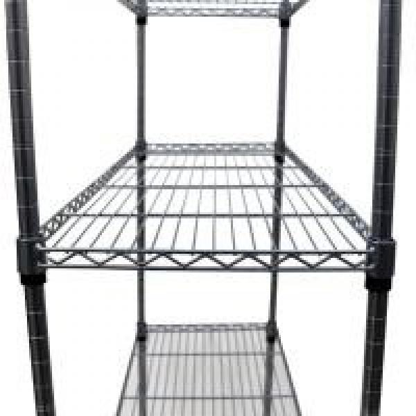 Durable 6 Tier Wire Storage Racks Movable In A Plant Growing Environment #2 image
