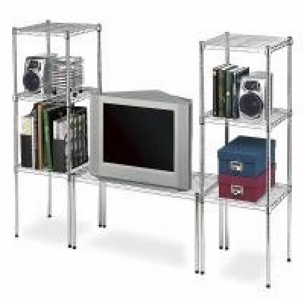 Carbon Steel Or SS 304 Home Wire Shelving TV Stands Modular Units For Household #3 image