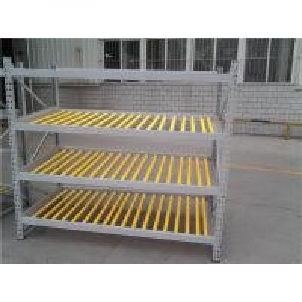 Space Saving Wheel Type Flow Rack System In Yellow Color For Hardware Industry #2 image