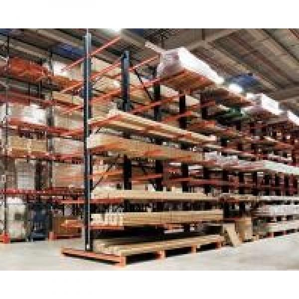 Double Side Steel Cantilever Lumber Racks Wide Used in Long Material Storage #1 image