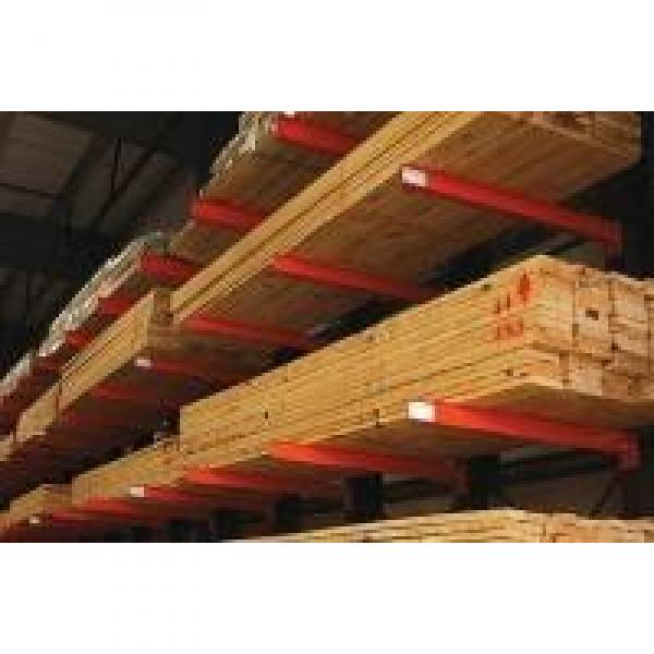 Double Side Steel Cantilever Lumber Racks Wide Used in Long Material Storage #2 image
